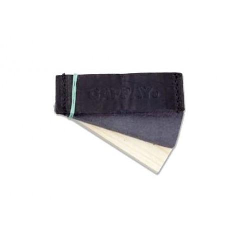 Objetos Set de 3, ( Cuero, textil, madera )